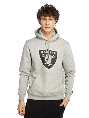 New Era NFL Fan Pack Hoody Herren Oakland Raiders Grau, Größe:M