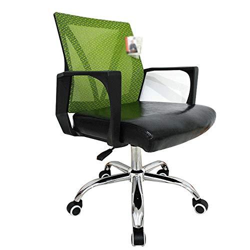WNN-URG Computer Office Chair sedia Mesh traspirante/sedia della maglia Sedia di cuoio girante Conference Chair sedia del personale di sollevamento, rosa/nero WNN-URG (Color : C)