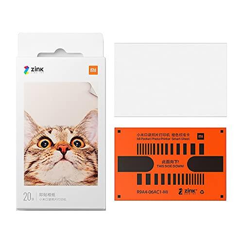 【日本正規代理店品】Xiaomi Mi ポータブル フォトプリンター写真用紙 粘着式 20 枚 50×76mm (20枚用紙セット)