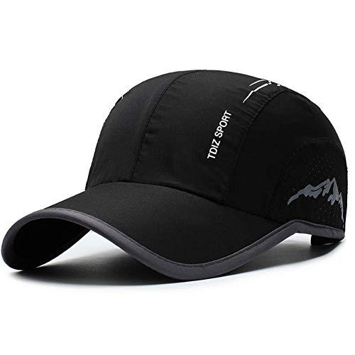 Clape Leicht und Dünn Sport Basecap, Faltbare Verstellbare Schnelltrocknend Baseballkappe UV-Schutz Kappe für Herren und Damen Sommer