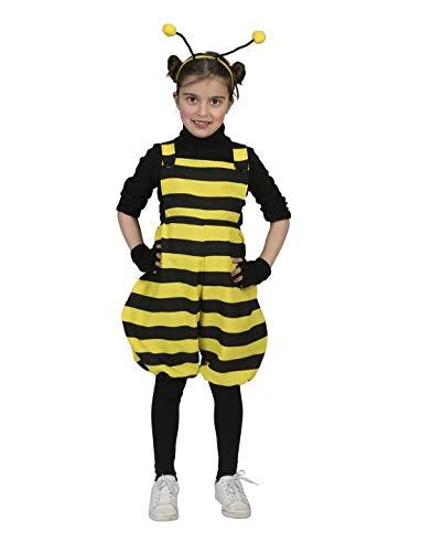 Luxuspiraten - Mädchen Kinder Kostüm Hummel Biene Latzhose mit Streifen, Bumblebee Bib Overall, perfekt für Karneval, Fasching und Fastnacht, 98, Gelb