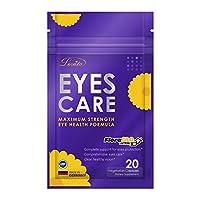 Lovita Eyes Care、FloraGLO ルテイン、10000 mg相当のビルベリー、ブラックカラントとアイブライト、20ベジタリアンカプセル