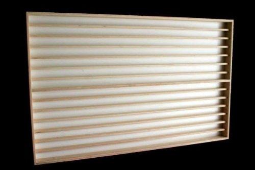 Alsino Vetrina (V83) per modellismo Scala N e Z in Legno di Betulla, con 2 vetri di plexiglas, Dimensioni 100 x 84 x 6 cm, vetrinetta, bacheca, espositore, collezionismo