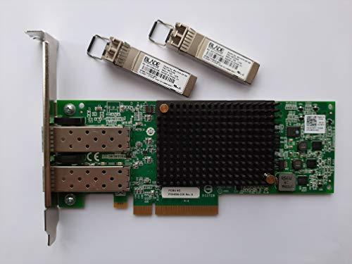 Dell Emulex 01YXTT Tarjeta de Interfaz de Red de 10 Gbps PCI Express 2.0 x8 + módulos de transceptor
