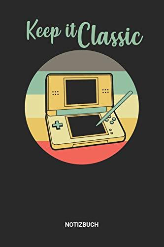 Notizbuch: A5 Notizheft mit punktierten Linien für einen Vintage Retro Handheld Gamer? Ideales Videospiel Konsole Journal oder Notizbuch. Perfektes ... Fans. Geschenkidee für Männer und Frauen