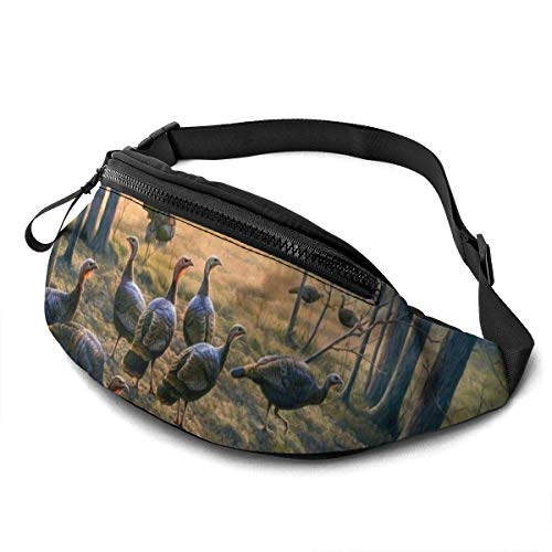 Elaine-Shop Fashion Unisex Casual Waist Bag Fanny Pack Money Bum Bag with Adjustable Belt for Outdoors Running Sports Climbing Travel,Colorful Snail Print