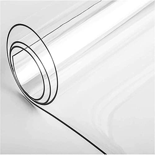 YQJ Mantel Transparente Grueso 2mm,Rectangular Impermeable De Plástico Transparente Manteles De Mesa,PVC Mantel Protector Impermeable,100x170cm/39.4x67in