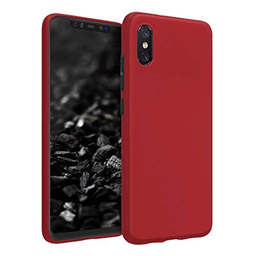 TBOC Funda de Gel TPU Roja para Xiaomi Mi 8 Pro - Mi8 Pro (6.21 Pulgadas) Carcasa de Silicona Ultrafina y Flexible para Teléfono Móvil [No es Compatible con el [Xiaomi Mi 8] [Xiaomi Mi 8 Lite]]