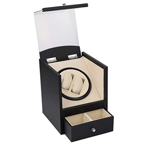 Reloj de la casa Winder Winder Winder Automatic Mini ultra silencioso Highend Mecánica Relojes de bobinado Cuadro Shaker Rotation Motor Box Box Reloj (Color, Tamaño: Un tamaño) Reloj Cajas Presentes W