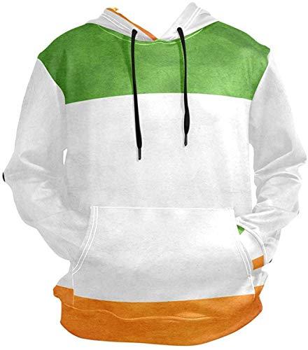 xinfub Ireland Flag Grunge Pullovers Hoodie Long Sleeve Hooded Athletic Hoodies Sweatshirts