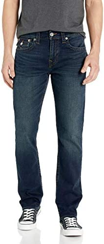 True Religion Men s Ricky Straight Leg Jean with Back Flap Pockets Last Call 36W X 32L product image