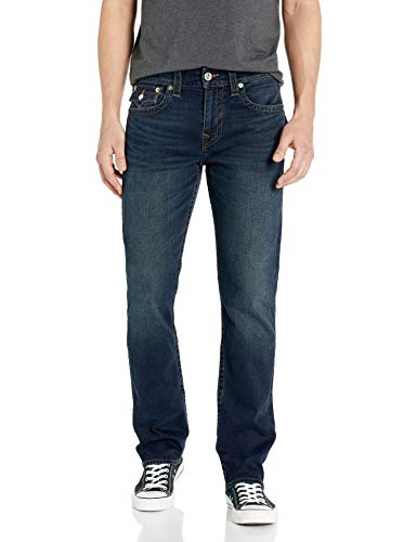 True Religion Men's Ricky Straight Leg Jean with Back Flap Pockets, Last Call, 34W X 32L