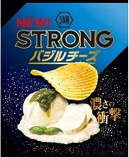 【販路限定品】湖池屋 KOIKEYA STRONG ポテトチップス バジルチーズ 52g×12袋
