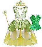 WonderBabe Vestidos de Princesa para Niñas Pequeñas para Fiesta Temática de Cumpleaños de Lujo Disfraz con Accesorios