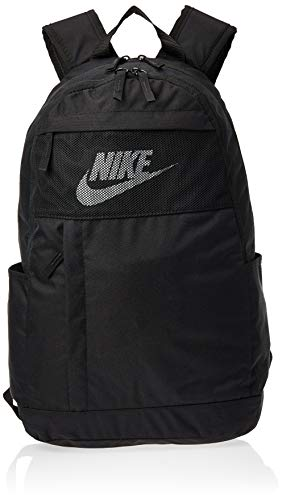Nike NK ELMNTL BKPK-2.0 LBR Sports Backpack, Black/Black/White, 45 cm