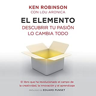 El elemento                   Written by:                                                                                                                                 Sir Ken Robinson,                                                                                        Lou Aronica                               Narrated by:                                                                                                                                 Carles Lladó Zaro                      Length: 8 hrs and 45 mins     1 rating     Overall 5.0