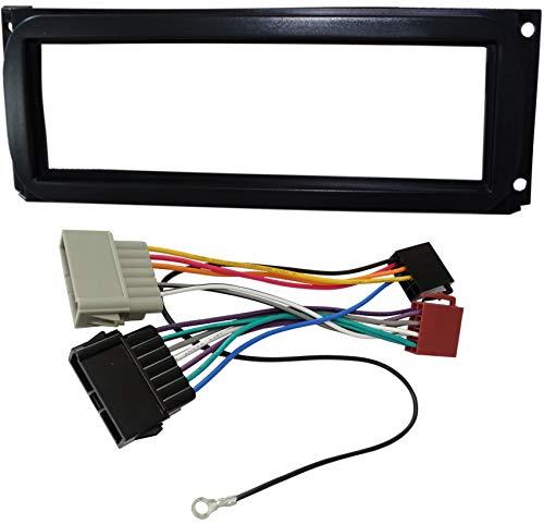 AERZETIX - Adaptateur façade cadre réducteur kit 1DIN moulage cache en plastique pour remplacer changer monter autoradio d'origine par un radio standard de voiture auto