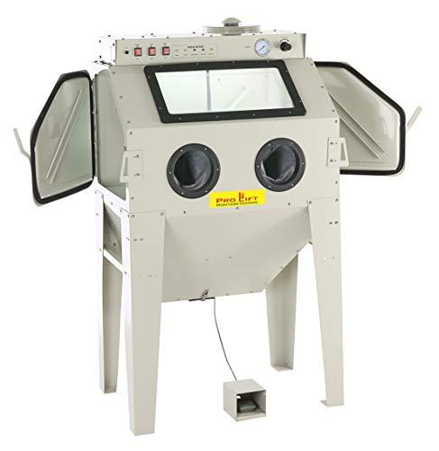 Pro-Lift-Montagetechnik Sandstrahlkabine 350 Liter inkl.Zubehör, SB350AJ, mit eingebauter Absaugung, 01558