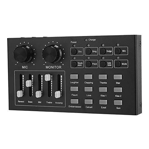 Annadue Scheda Audio Live, Scheda Audio Esterna, Scheda Audio, 8 modalità di Gioco Apparecchiature Audio per Tablet per Computer