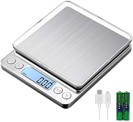 KUBEI Upgraded Large Range Small Kitchen Scale 1kg 0 01g USB Charging Mini Food Electronic Scale product image