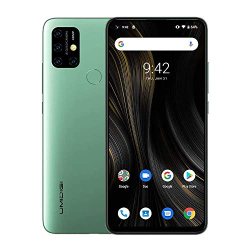 UMIDIGI Power3 Android 10 Smartphone ohne Vertrag günstig 6.53 Zoll FHD+ FullView Bildschirm 5G WiFi Handy 4GB+64GB ROM, Global Version, Dual SIM, 48MP, 13MP Kamera NFC (Blau)