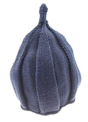 Glamour Girlz Bonnet en tricot épais torsadé pour filles et garçons 12-24 mois (bleu marine)