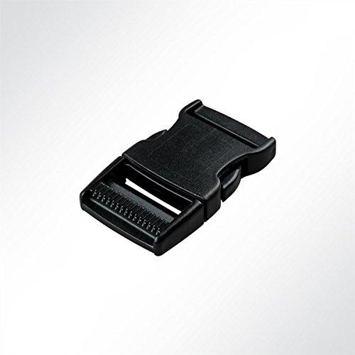 LYSEL Kunststoff Klickschnalle/Verschlussschnalle schwarz, (BxL) 40x78mm in Schwarz (1 Stück)