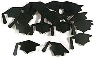 Graduation Hats Cap Die Cuts Set - Black (20pieces)