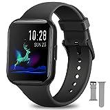 Smartwatch Uomo Donna, NAIXUES Orologio Fitness 1,54 Pollici Impermeabile IP68 Smart Watch Bluetooth Cardiofrequenzimetro da Polso Contapassi Calorie Smartband Activity Tracker per Android iOS (Nero)