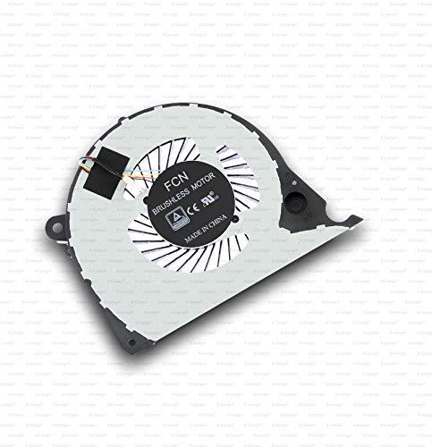 X-Comp DFS2000054H0T-FJQS - Ventilador para CPU Dell Inspiron 15 7577 G5 15 5587 P72F G7 15 7588 Vostro 15 7570 15 7580 Serie