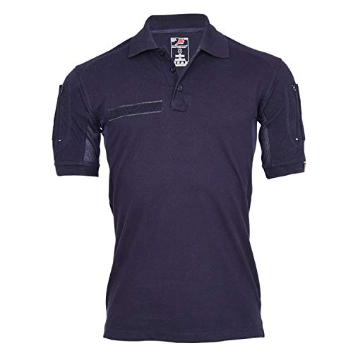 Tactical Polo-Shirt Navy blau Polizei Feuerwehr Berufs Bekleidung Hemd #22403, Größe:L, Farbe:Dunkelblau