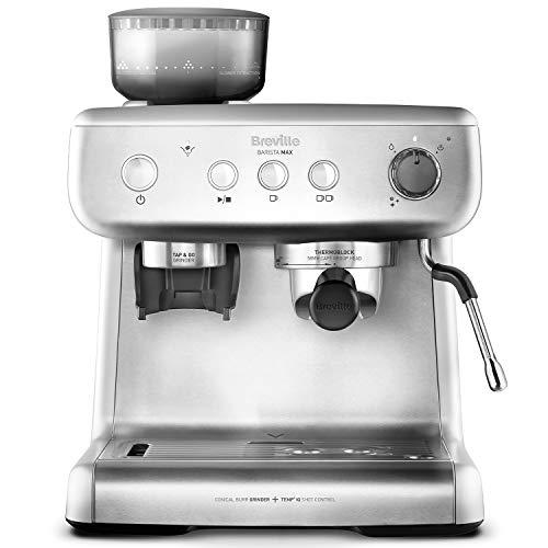 Breville Barista Max VCF126X - Máquina de café expreso, totalmente automática con molinillo integrado y bomba italiana de 15bares