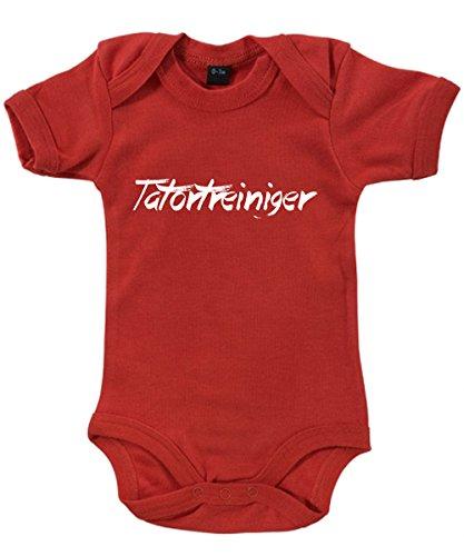 clothinx - Tatortreiniger - Babybody Rot, Größe 6/12 Monate