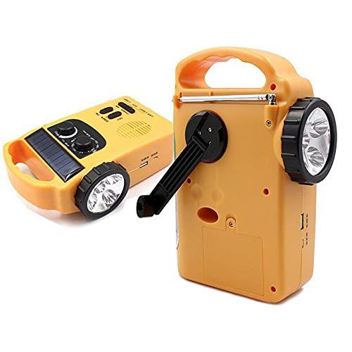seiyishi 防災ラジオ 防災多機能ラジオ ソーラー AM/FM携帯ラジオ 手回し充電 ソーラー充電 防災グッズ 備え LEDランプ 小型 持ち運び可能 SY-SYJ-14