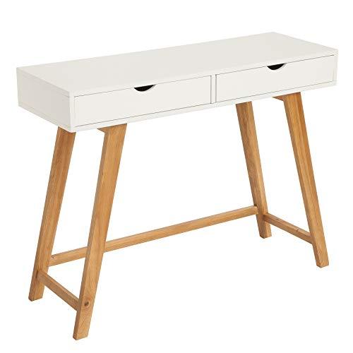 Invicta Interior Geräumiger Konsolentisch Scandinavia 100cm weiß Scandinavian Design Schreibtisch Konsole Tisch Schminktisch