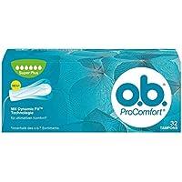 o.b. ProComfort con tecnología Dynamic Fit y superficie Silk Touch, Pack de 32 Tampones