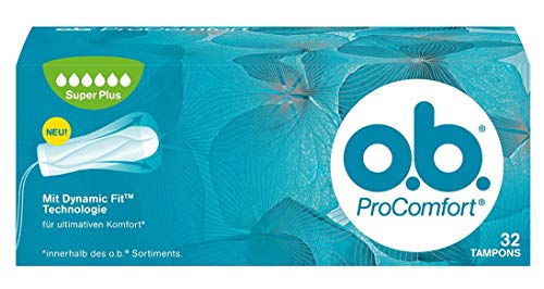 o.b. ProComfort con tecnología Dynamic Fit y superficie Silk Touch, Pack de 32 Tampones
