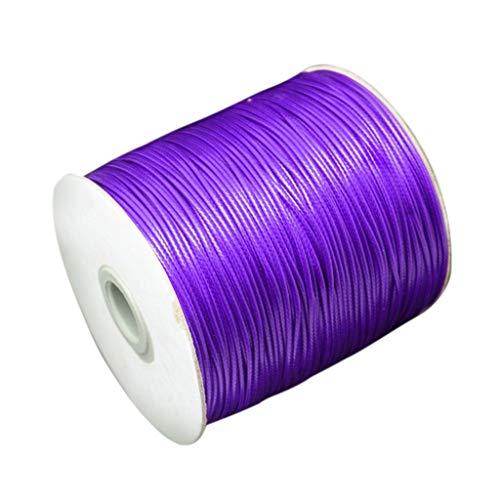 Janly - Cuerda de algodón encerado, 80 m, cuerda de joyería, artesanía, 2 mm, para collar de cadena de collar, para bricolaje en el hogar