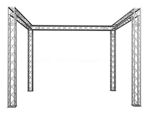 Messestand mobil in U Form, 4x3x3m aus 4Punkt Deco Traversen T220-4 - Messestände Stand für Messe Messe Stand für Gewerbeschau