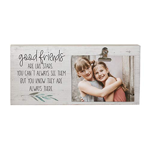 "Simply Said, INC Picture Clips 12"" x 5.5"" Clip Photo Frame - Good Friends are Like Stars"