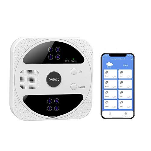 HYVQDNM Smart Sprinkler Controller, WiFi Sprinkler Controller 8 Zones Automatically Skip Rain,...