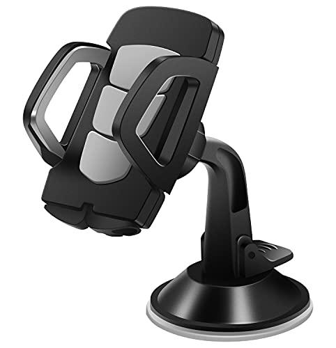 Auanoz Handyhalterung Auto Handyhalter fürs Auto Kfz Handyhalterung & Saugnapf Halter Silikonschutz Smartphone Halterung Auto für iPhone Samsung Huawei LG usw