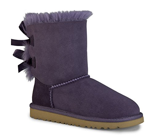 UGG Australia Girls Bailey Bow Shearling Boot Petunia Size 6