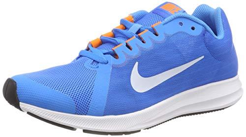 Nike Downshifter 8 (GS), Scarpe da Ginnastica Basse Uomo, Multicolore (Blue Hero/Football Grey/Cobalt Blaze 001), 40 EU