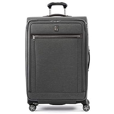 Travelpro Platinum Elite Softside Expandable Spinner Wheel Luggage, Vintage Grey, Checked-Large 29-Inch