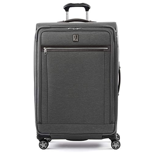 Travelpro Platinum Elite - Softside Expandable Spinner Wheel Luggage, Vintage Grey, Checked-Large 29-Inch