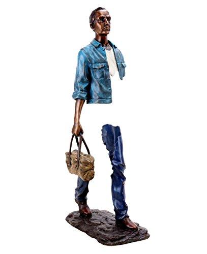 Abstrakte Bronzeskulptur - Erased Man - signiert Martin Klein - Limitierte Bronzefigur - Moderne Kunst Bronzefigur - Modern Art