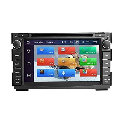 Reproductor multimedia para coche para Kia Ceed Venga 2010-2012 Android 10 Octa Core 4G RAM 64G ROM Pantalla IPS de 7 pulgadas Doble Din In Dash Radio de coche Audio Estéreo Navegación GPS DSP