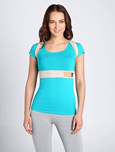 ®BeFit24 Schultergurt Haltungskorrektur für Damen und Herren - Geradehalter für Rücken Schulter - Rückenstabilisator - Haltungstrainer - Back Support Posture Corrector [ Size 1 - Nude ]