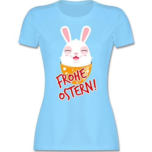 Ostern - Frohe Ostern - Osterhase - S - Hellblau - l191_Shirt_Damen - L191 - Tailliertes Tshirt für Damen und Frauen T-Shirt